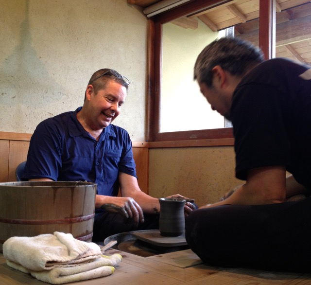 Pottery making activity with Kyo Isezaki